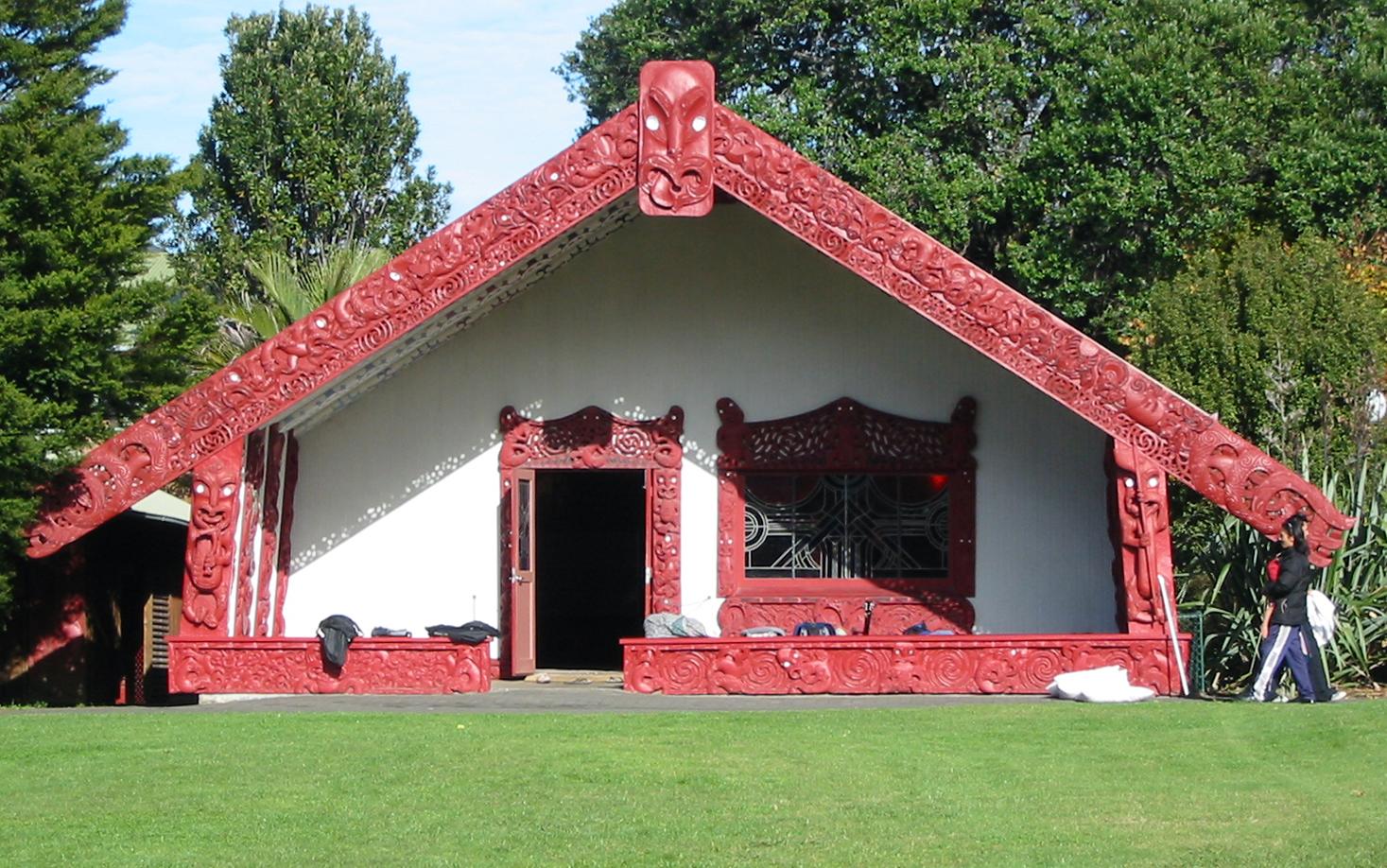 Tānenuiarangi, the wharenui at Waipapa marae, University of Auckland