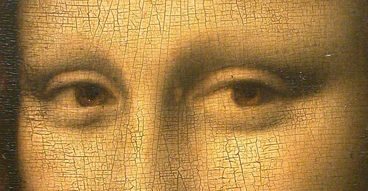 Craquelure on the 'Mona Lisa'