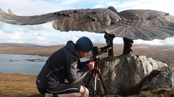 Dewi Owens photographing 'Glencoe Eagle'