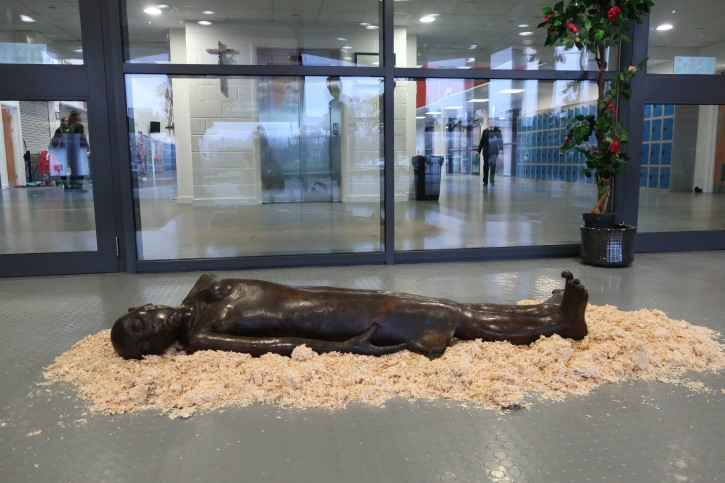 Kate's Robinson's 'Persephone' installed at St Andrew and St Brides Secondary School