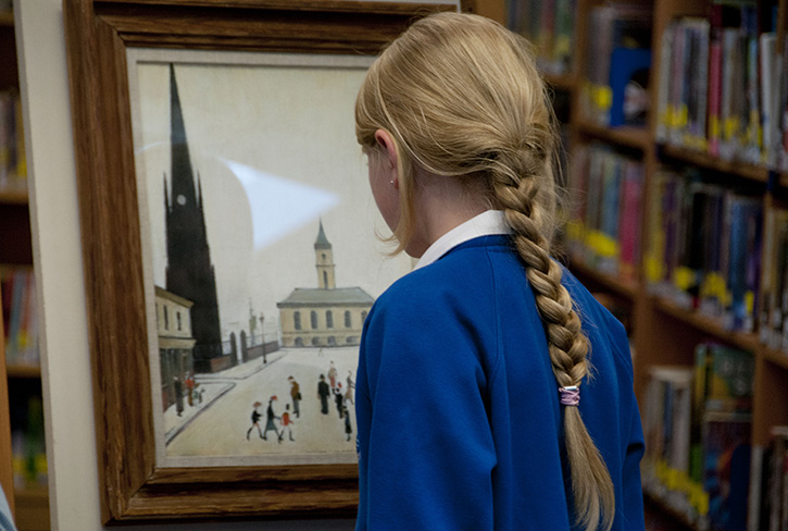 Lowry's 'The Old Town Hall and St Hilda's Church' on loan from MIMA to The King's Academy, 2013