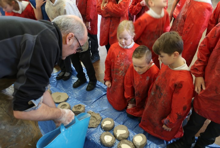 Stephen Broadbent at a school event