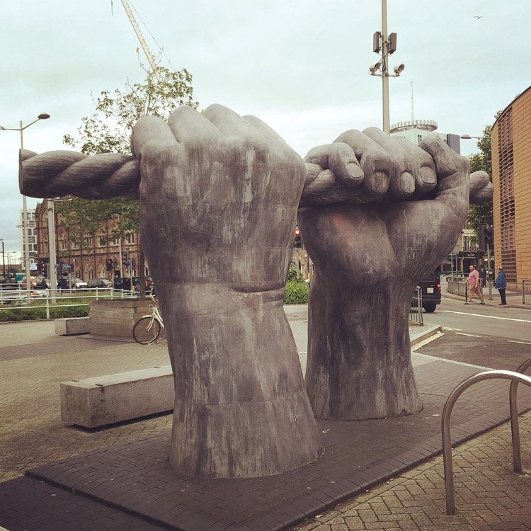 2001 by Brian Fell, Custom House Street, Cardiff