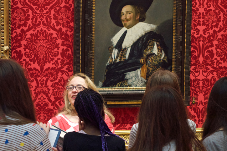 A session in front of Frans Hals' 'The Laughing Cavalier' in the Wallace Collection