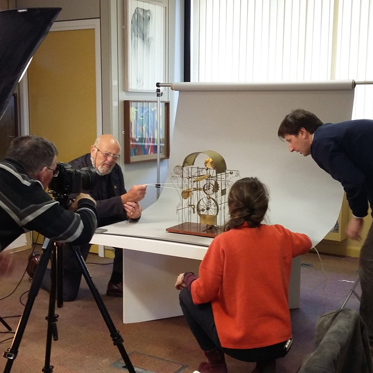 Photographing a kinetic sculpture by Barry Orr (1930–2000)