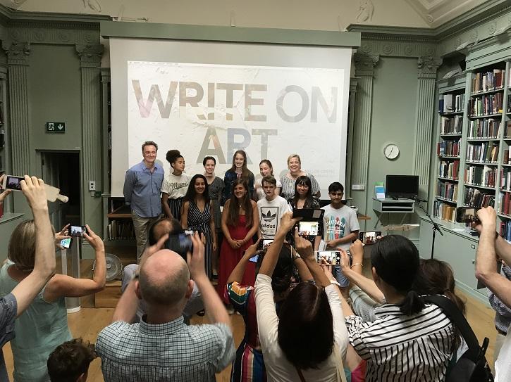 The winners of Write on Art 2018