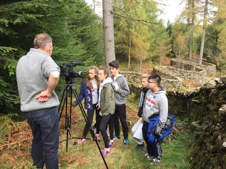 Culture Street making a pilot sculpture film in Grizedale Forest, Cumbria, 2015