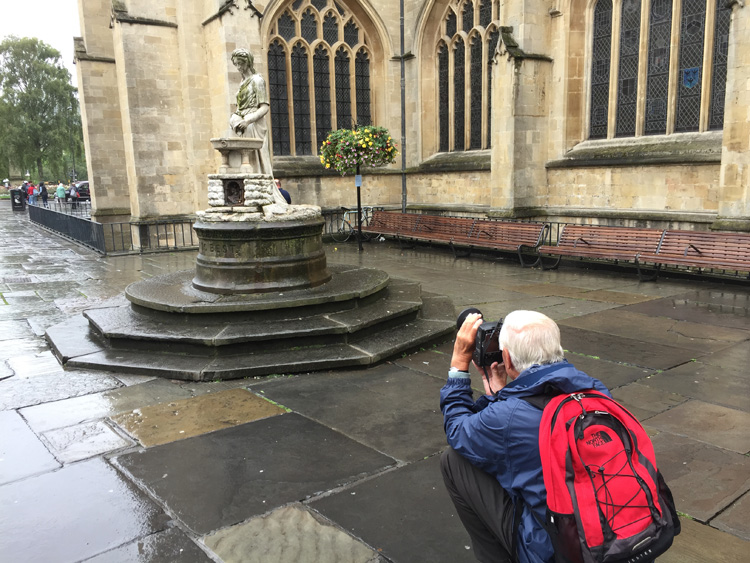 Volunteer photography training in Bath during the HLF-funded project development, 2015