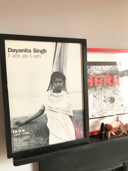Dayantia Singh exhibition poster, and my make up!