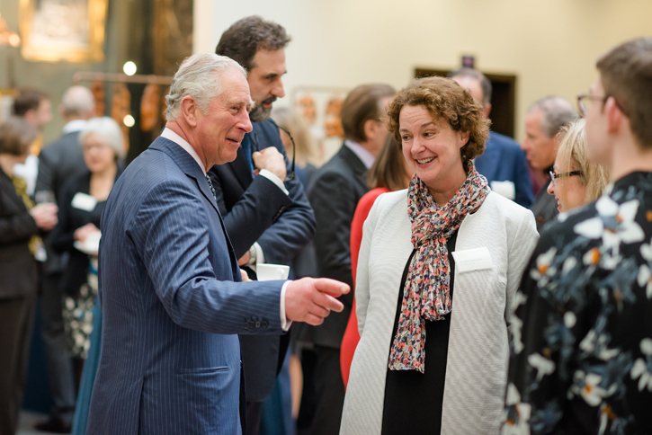 HRH The Prince of Wales meets Art History for Everyone teachers and students at The National Gallery