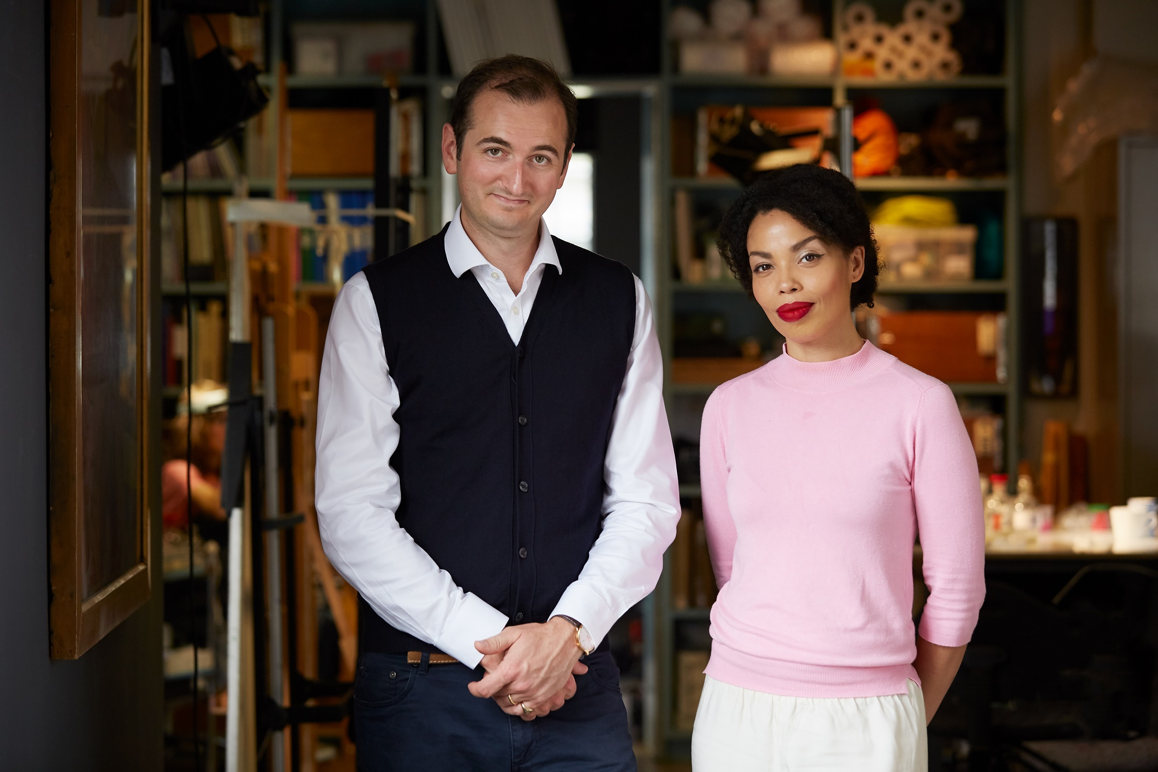 'Britain's Lost Masterpieces' presenters, Bendor Grosvenor and Emma Dabiri