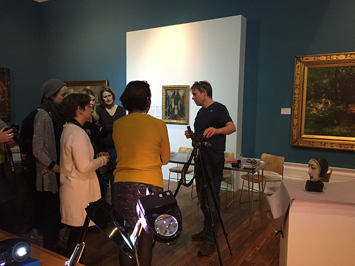 Photography Manager Colin White runs a digitisation training day at The Harris Museum
