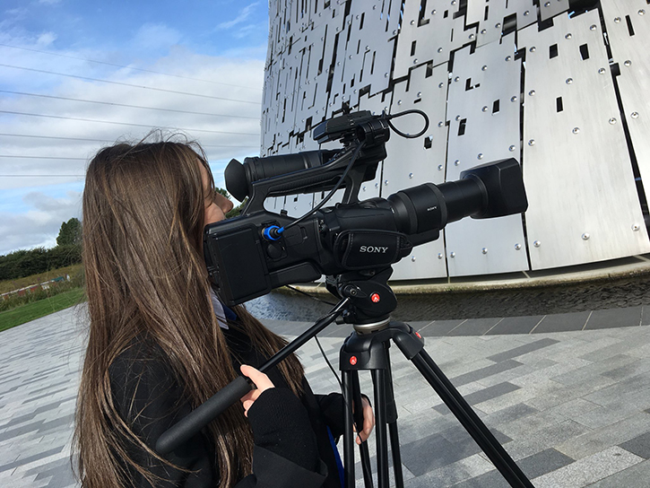 Making a film about 'The Kelpies' in Falkirk