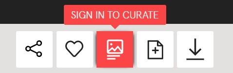 'Sign in to Curate' button