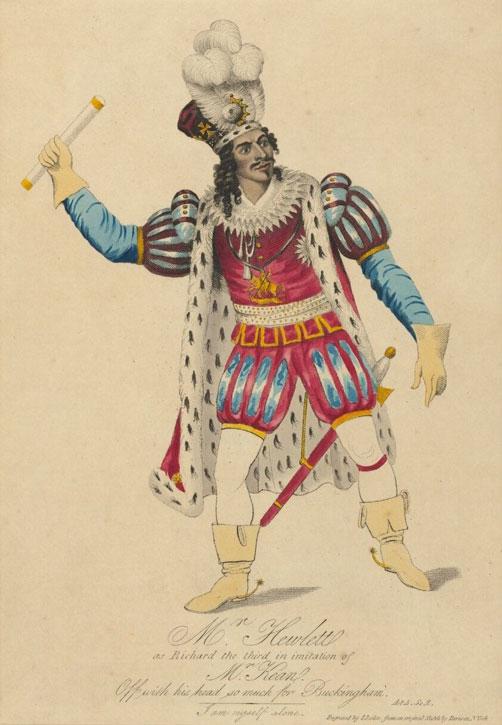 James Hewlett as Richard the Third, African Grove Theatre