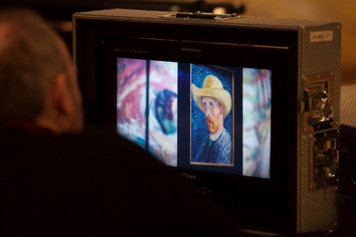 Filming 'Vincent van Gogh: A New Way of Seeing'