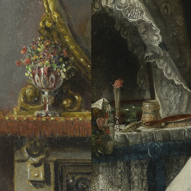 Comparison of 'The Music Room' (left) and 'After the Ball' (right)