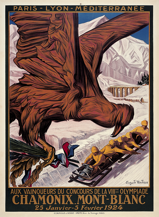 Winter Olympic Games poster, Chamonix 1924