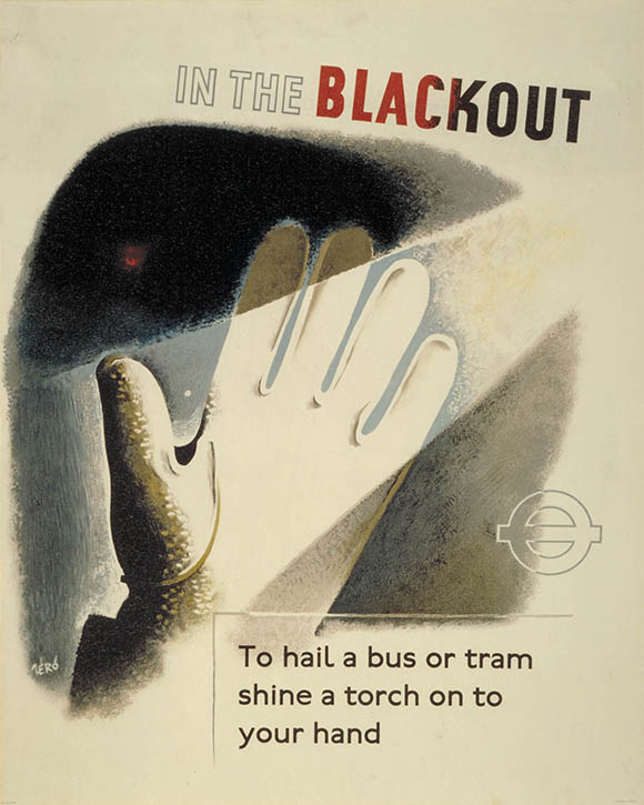 'In the blackout, to hail a bus or tram shine your torch onto your hand'