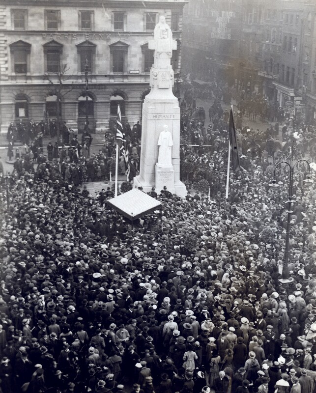 The unveiling of George Frampton's statue of Edith Cavell