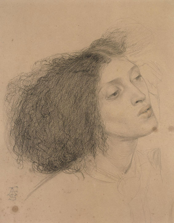 Study for the Head of Morgan le Fay