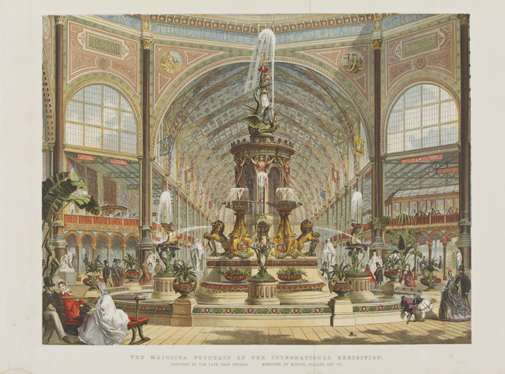 The Majolica Fountain in the International Exhibition