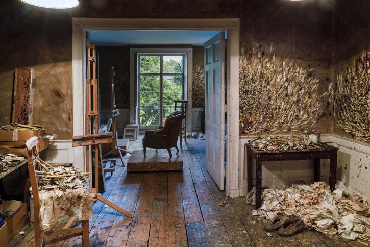 Lucian Freud's studio
