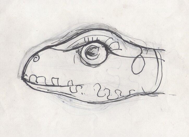 Template, creature head