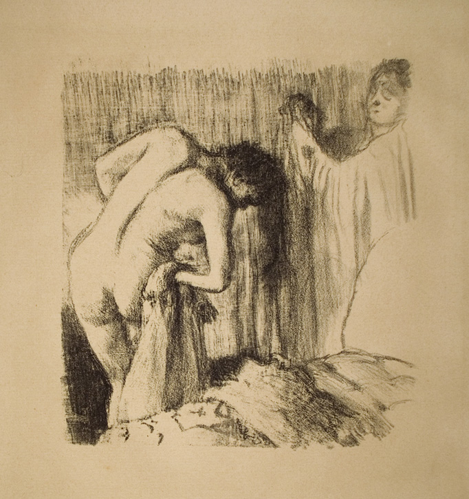 After the Bath, Woman Drying her Leg