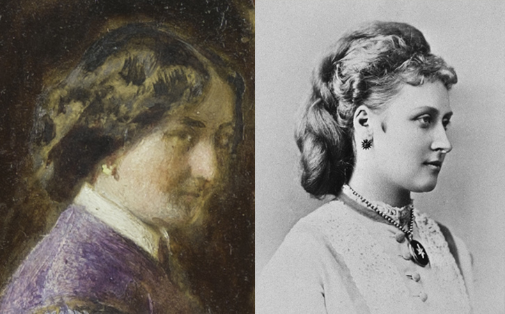 Comparison of 'The Music Room' (left) and 'Princess Louise, Marchioness of Lorne' (right)