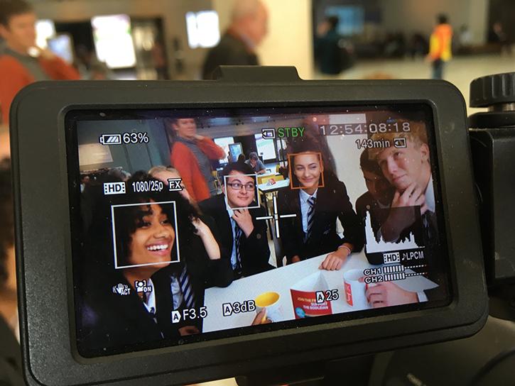 Filming at Merton College, Oxford, September 2018