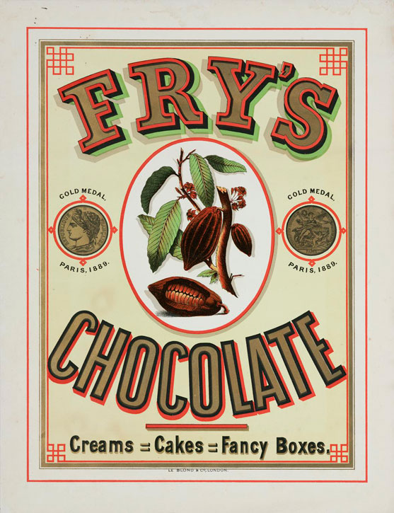 Fry's Chocolate Creams = Cakes = Fancy Boxes.