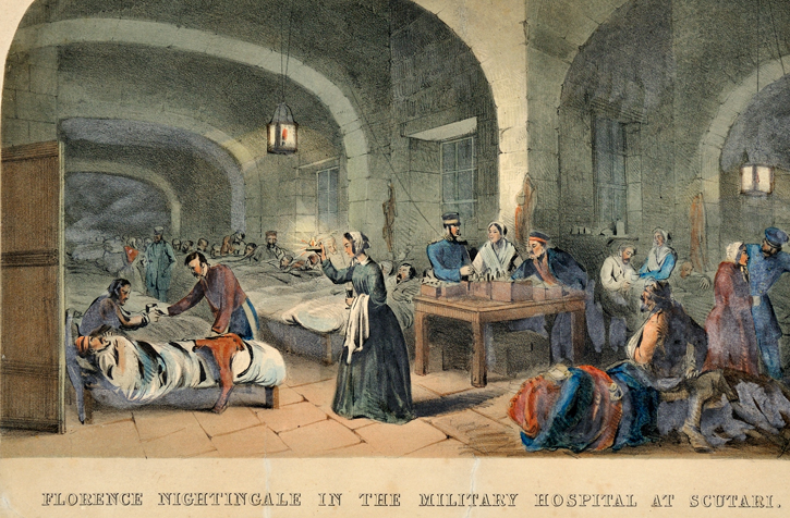 Florence Nightingale in the Military Hospital at Scutari