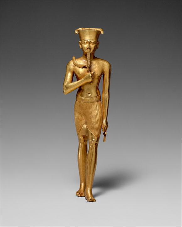 Gold statuette of Amun