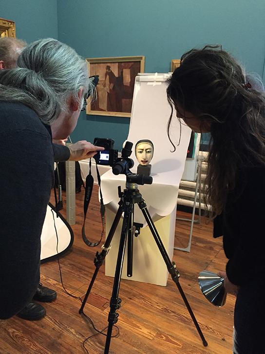 Digitisation training session at the Harris Museum & Art Gallery, Preston, November 2018
