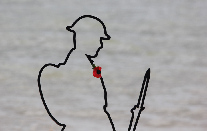 Ghost Soldier on Clacton Beach, Essex