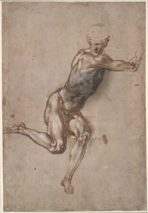 A Study of a Seated Nude Man for the 'Battle of Cascina'
