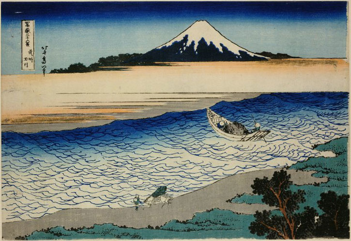 From the series 'Thirty-Six Views of Mt Fuji', c.1830, colour woodblock print by Katsushika Hokusai (1760–1849)