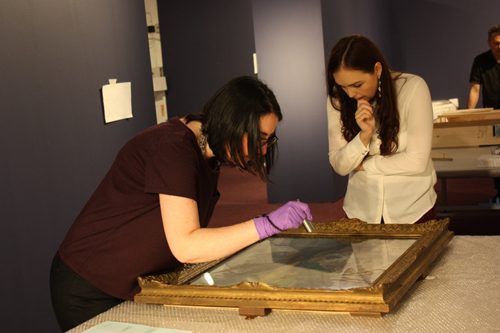 Beth Jowett, Freelance Fine Art Conservator, and Rebecca Comber, Registrar, Royal Academy of Arts