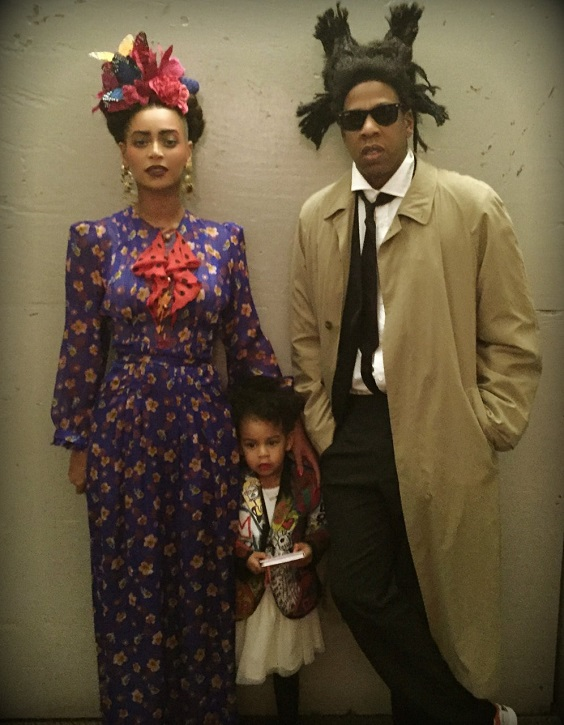 Beyoncé and Jay Z as Frida Kahlo and Basquiat, Halloween 2014