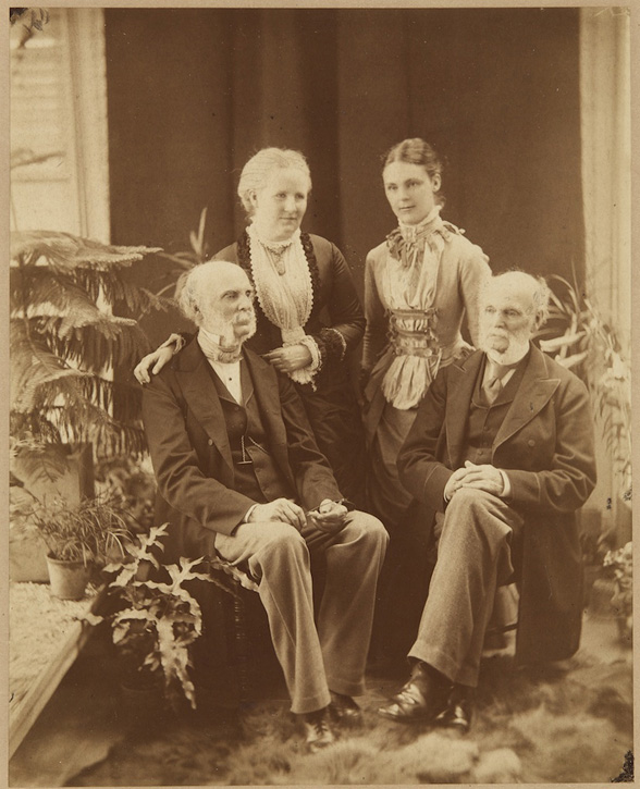 Family portrait: a young Adela Breton with her mother Elizabeth, father William and his twin brother