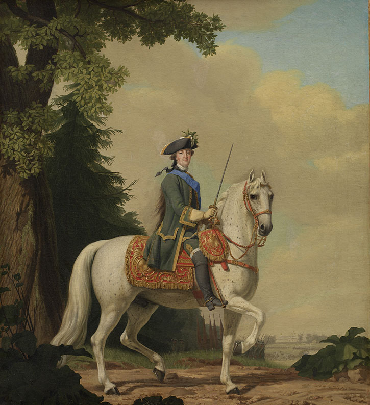Catherine II of Russia in Life Guard Uniform on the Horse 'Brillante'