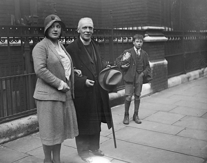 The Rev Harold Francis Davidson and his daughter Miss Paddy Davidson