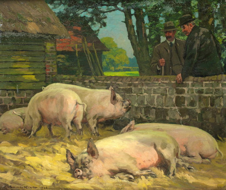 1926, oil on canvas by Gunning King (1859–1940)