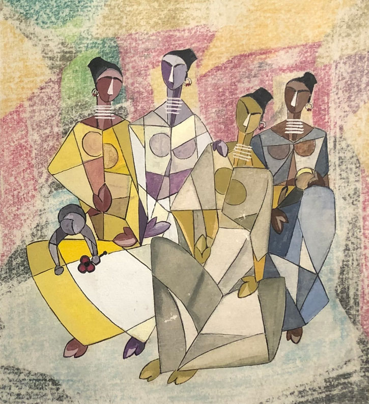 Untitled (Four Seated Figures)