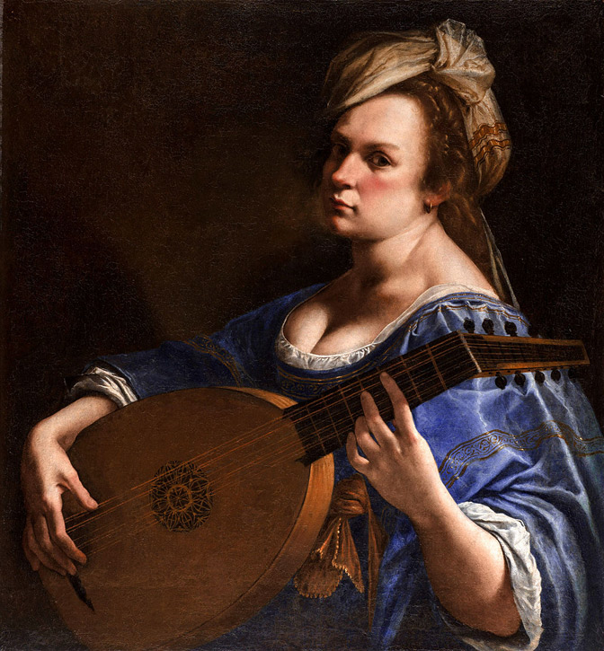 Self Portrait as a Lute Player