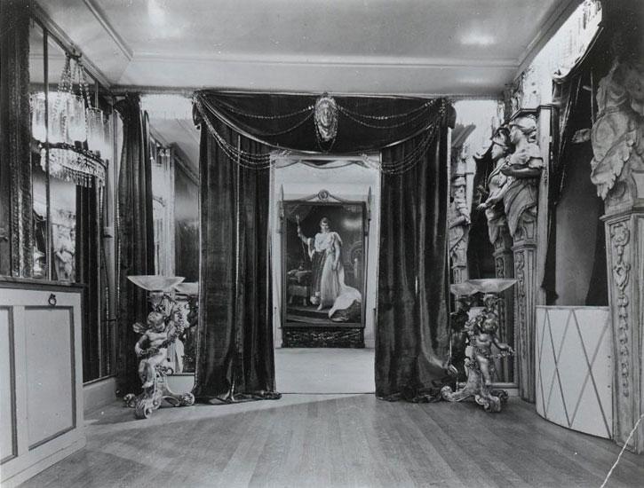 The portrait of Napoleon on display at Marwell Lodge