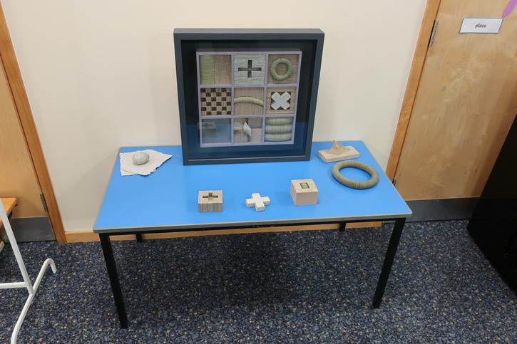 Julia Gardiner's 'Studio Grid' during the Masterpieces in Schools event