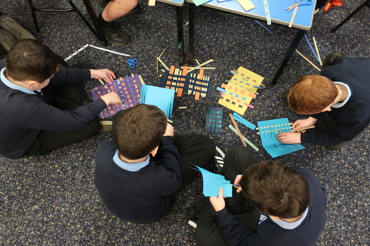 Students during the Masterpieces in Schools event