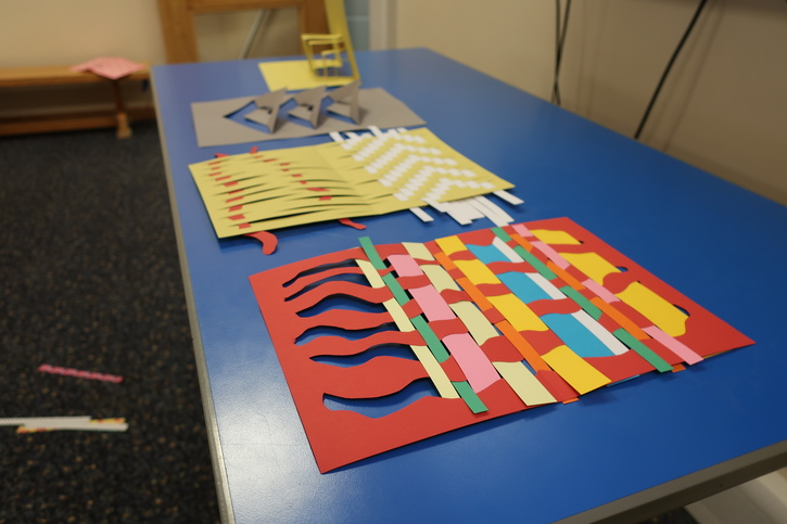 Examples of paper weaving